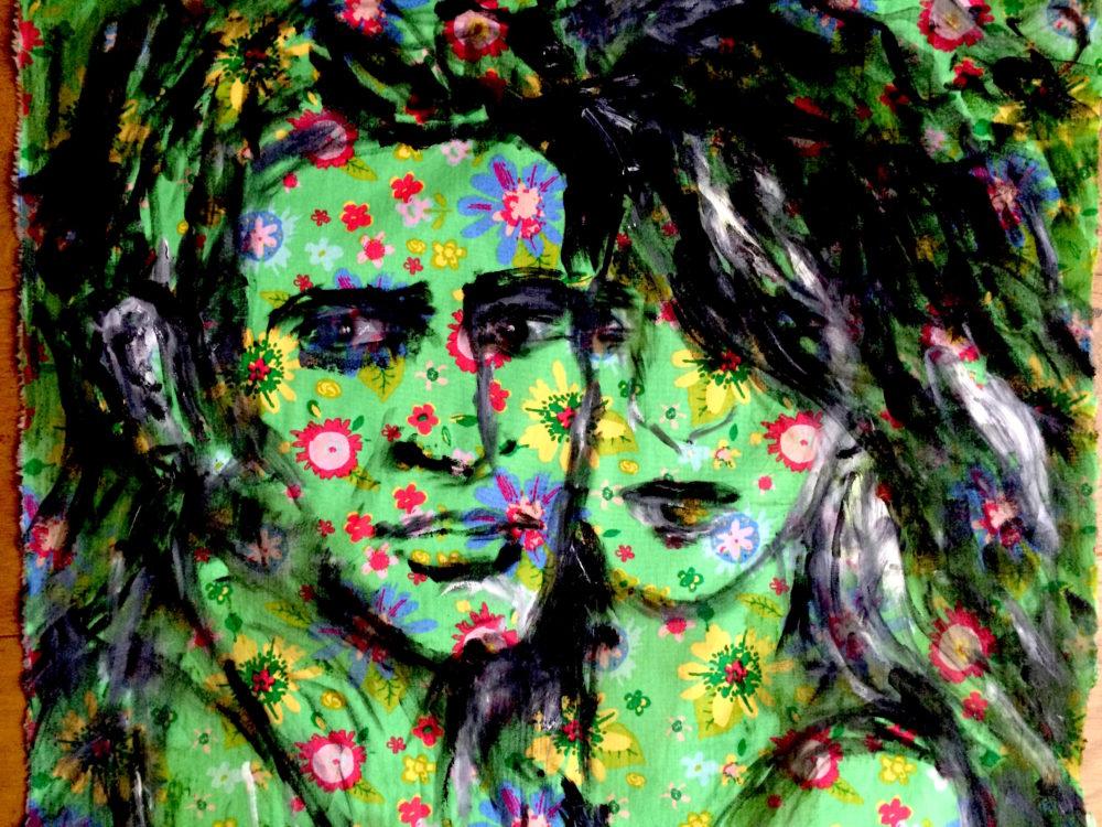 """""""Sailor & Lula"""", Öl auf Stoff, 50 x 70 cm, Gemälde von Meike"""