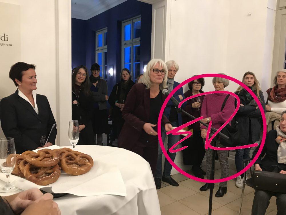 Rosemarie Heilig (Stadträtin), Fides Becker (Künstlerin) und Dr. Sonja Müller (Frankfurter Kranz)