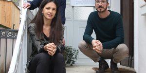 Eleonora Esse (vorne), hinten (l.) Mattia Noal und Guido Zanet