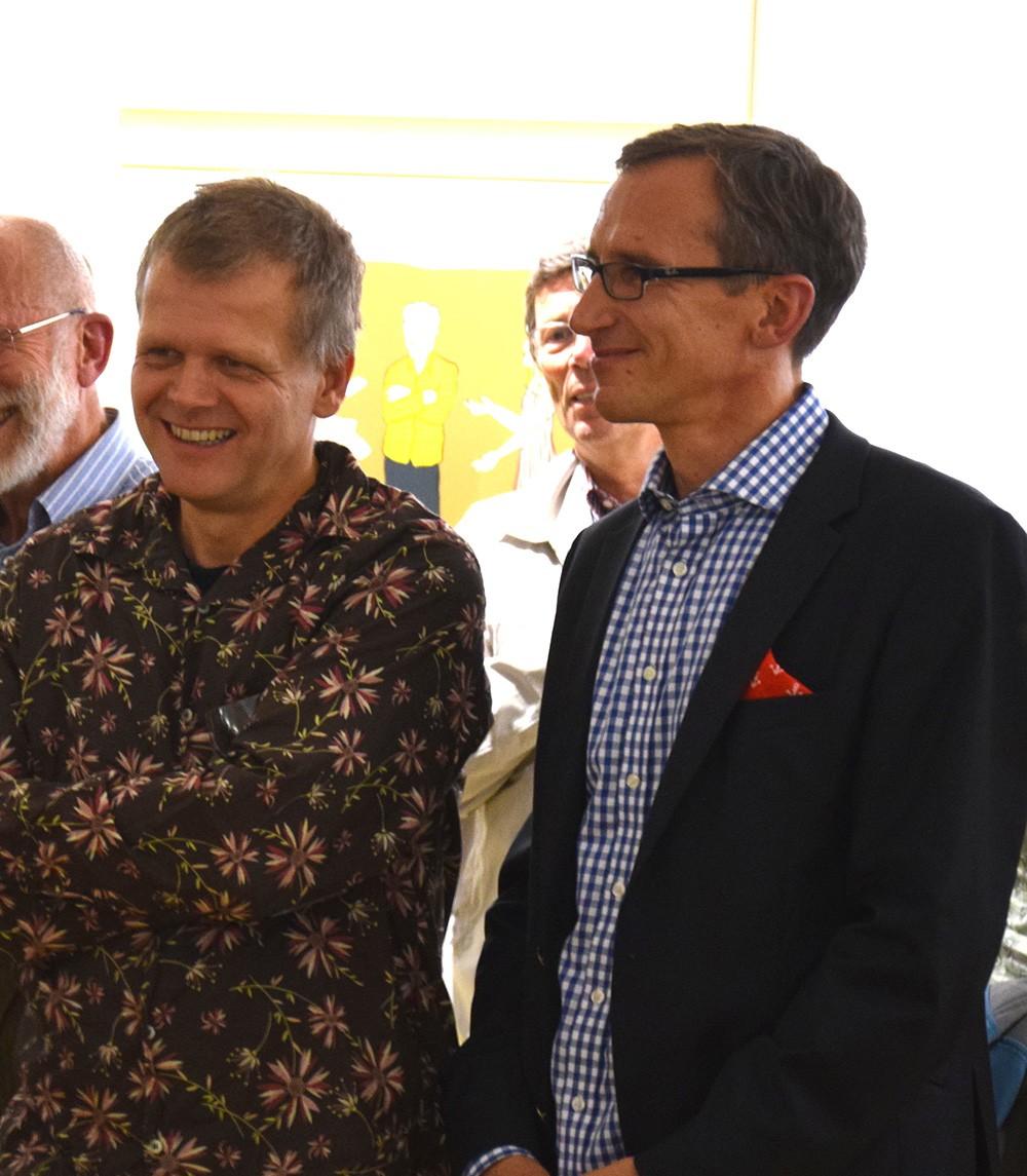 Gute Freunde – der Künstler Moritz Götze (links) und sein Galerist Jörk Rothamel Foto: Dr. Jörk Rothamel