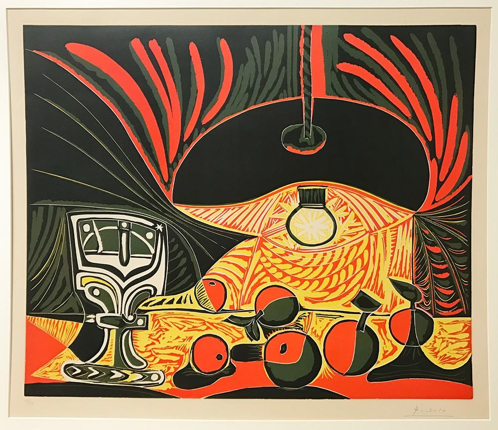 Nature morte sous la Lampe 1962, Linolschnitt auf Papier © Die Galerie