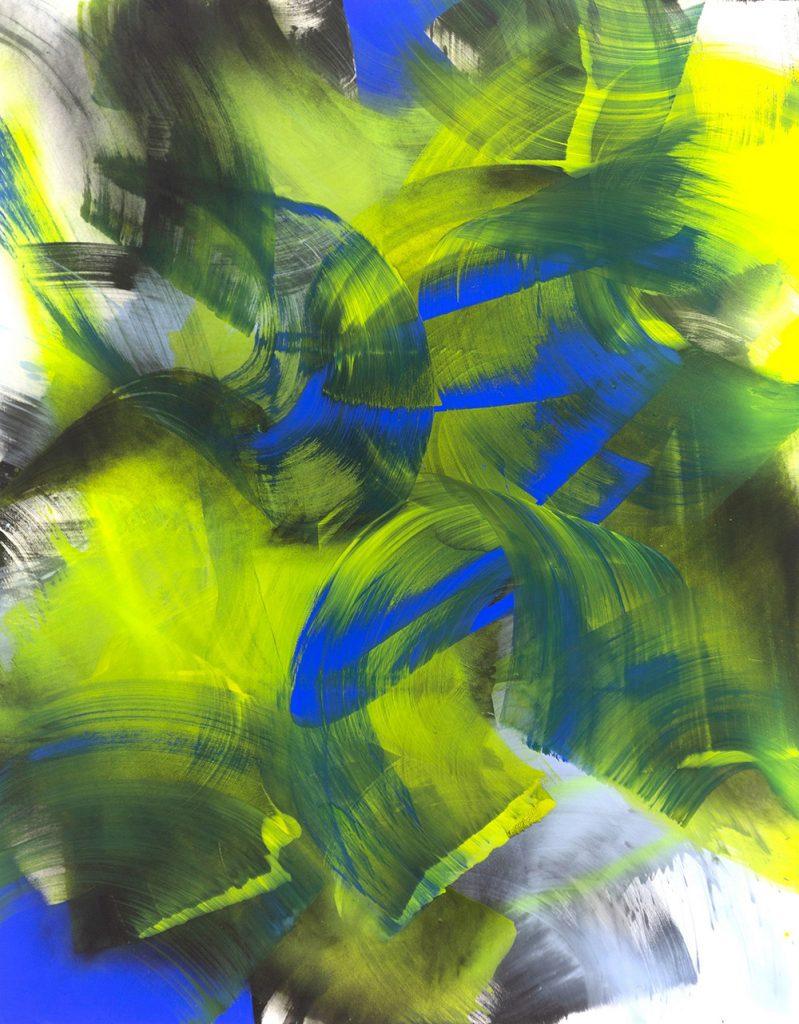 Laura Aberham BreakingBlue, Acryl, 280x220cm, 2019