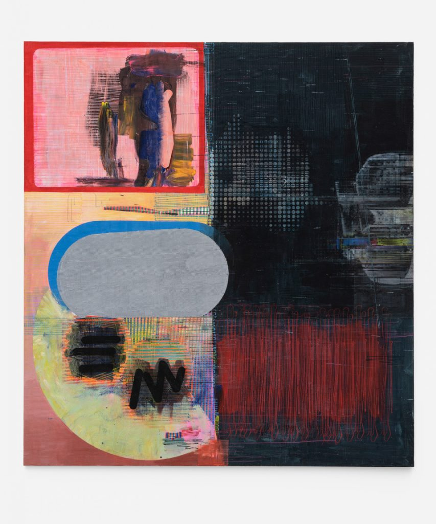Cul de Sac?, 2020, Acryl, Papier und Leinwand, 250x230 cm, Marcus Oehlen, (c) Bärbel Grässlin