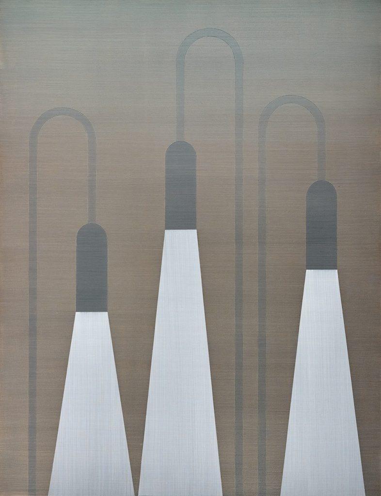 Three Lamps (2017) 130x 100 cm- Acryl auf Holz- 4600 Euro