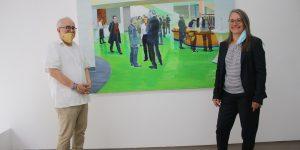 """(v.l.) """"ARTdrian"""", Adrian Pantel und Heike Sterna, Galerie Der Mixer Foto: Edda Rössler"""