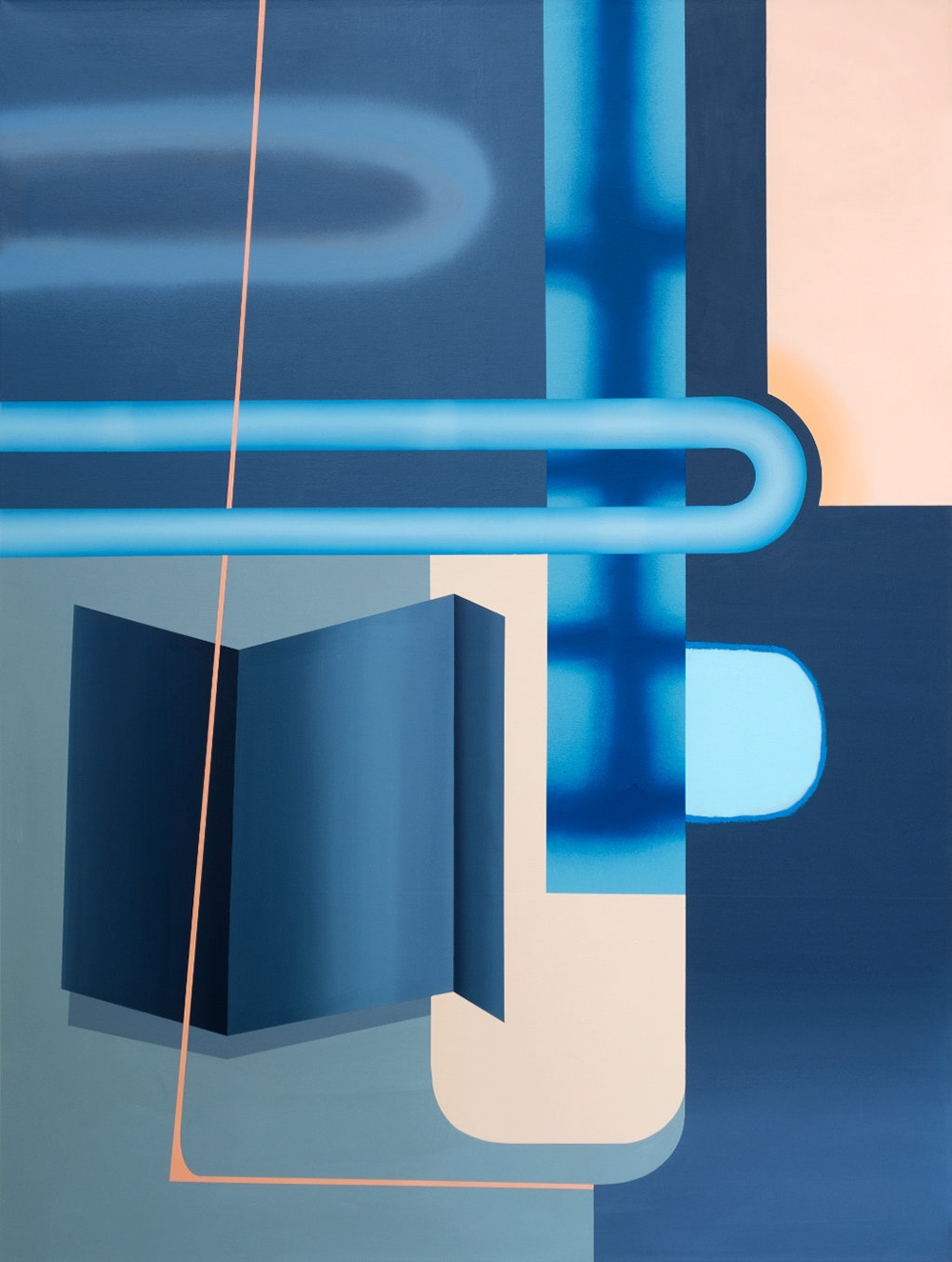 Identität_Nero_Big Book, 160 x 120 cm, Öl, Acryl, Sprühdose, Marker auf Leinwand, 2020
