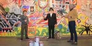 Mirek Macke, Künstler und Leiter Kunstverein Familie Montez, Spiritus Rex der Kunstaktion Montez-Art Wall Foto: Edda Rössler