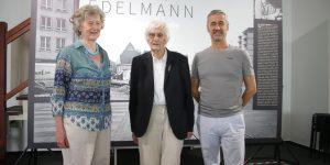 Galeristin Marina Grützmacher, Fotografin Ursula Edelmann und Kurator Rudi Feuser (v.l.) Text und Foto von Edda Rössler