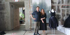 """""""Palindrome"""", Nina Hollein (Mode) und Philipp Schweiger (Malerei) im Kunstverein der Familie Montez Fotograf: Edda Rössler"""