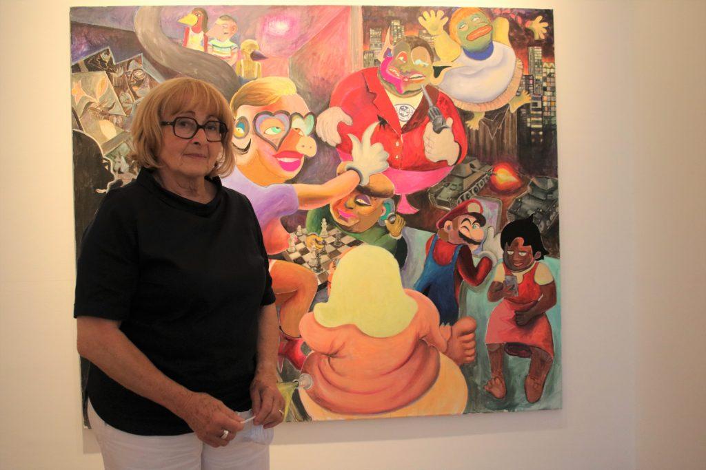 In der Galerie Anita Beckers sind die grell-bunten Werke des Aachener Künstlers Armin Boehm zu sehen. Foto: Edda Rössler